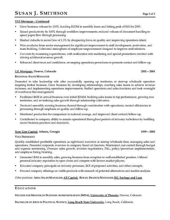 VP Sales Sample Resume - Executive resume writer for VP, Director ...