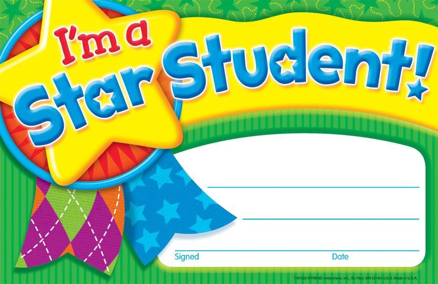 I'm a Star Student Certificates | Awards