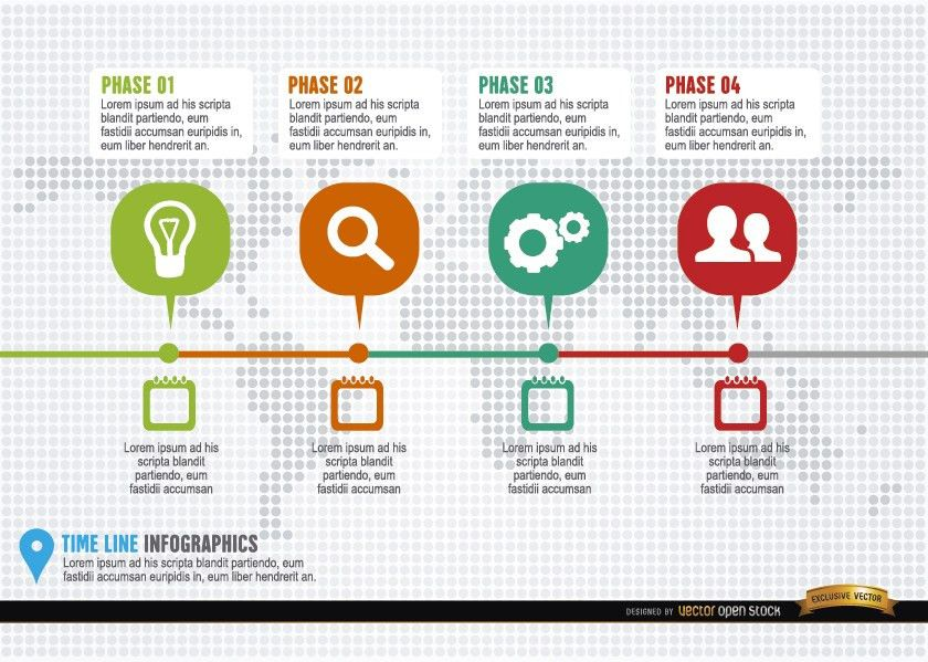 Project timeline infographic template - Vector download