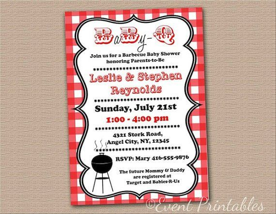 Baby Shower Invitations: Free Baby Q Shower Invitations Templates ...