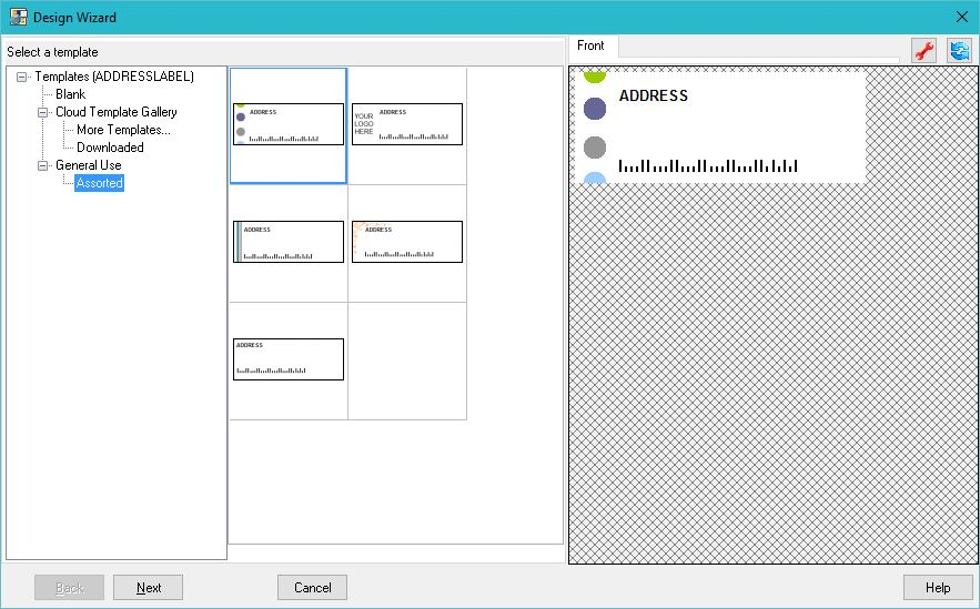 Creating address mailing labels or envelopes from the built-in ...