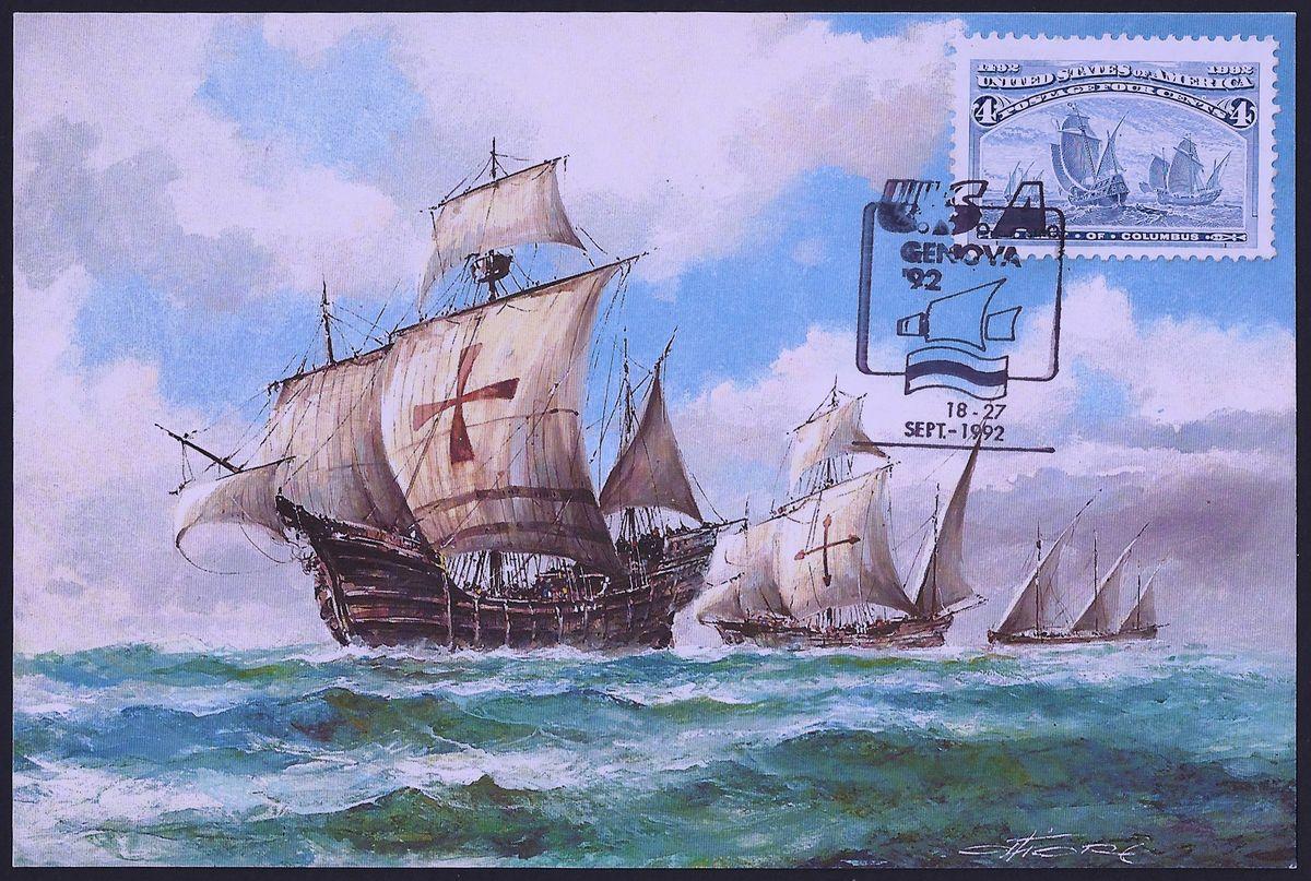 flotte de christophe colomb timbres pinterest