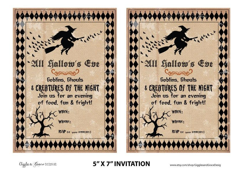 Free Printable Halloween Invitation Flyers – Fun for Halloween