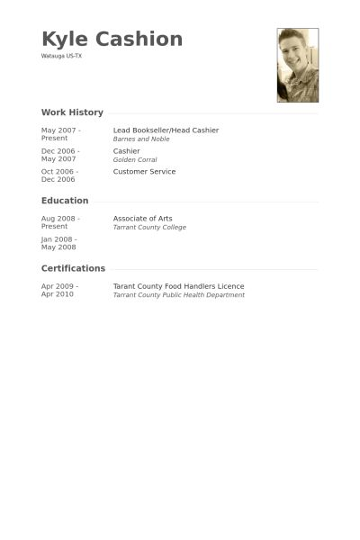 Bookseller Resume samples - VisualCV resume samples database