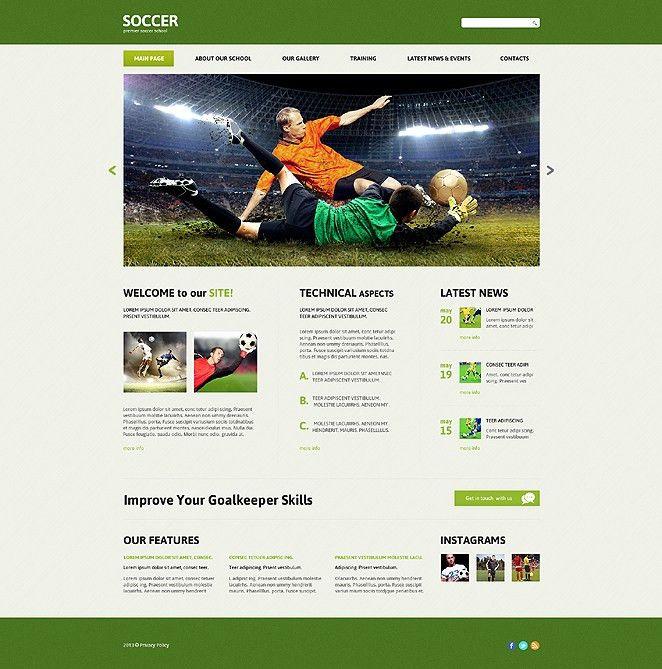 Website Template #47852 Soccer Club Sport Custom Website Template ...