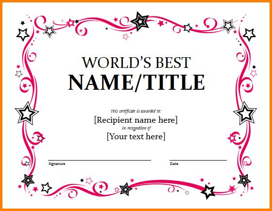 Free Award Templates.award Certificate Template.png - Letter ...