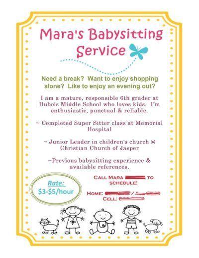 Babysitting Flyer using MDS! | babysitting | Pinterest ...