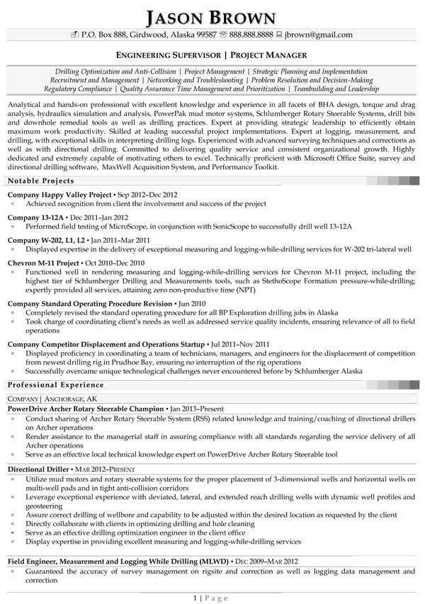 Engineering Resume Examples - Resume Professional Writers