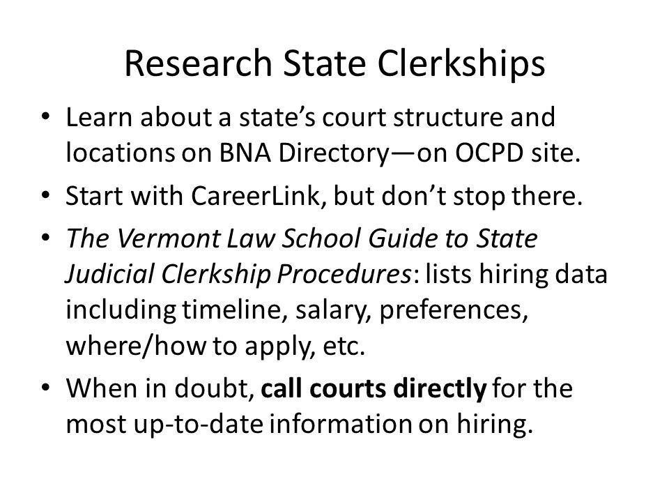 Clerkships 201: The Nuts and Bolts of Applying for Judicial ...