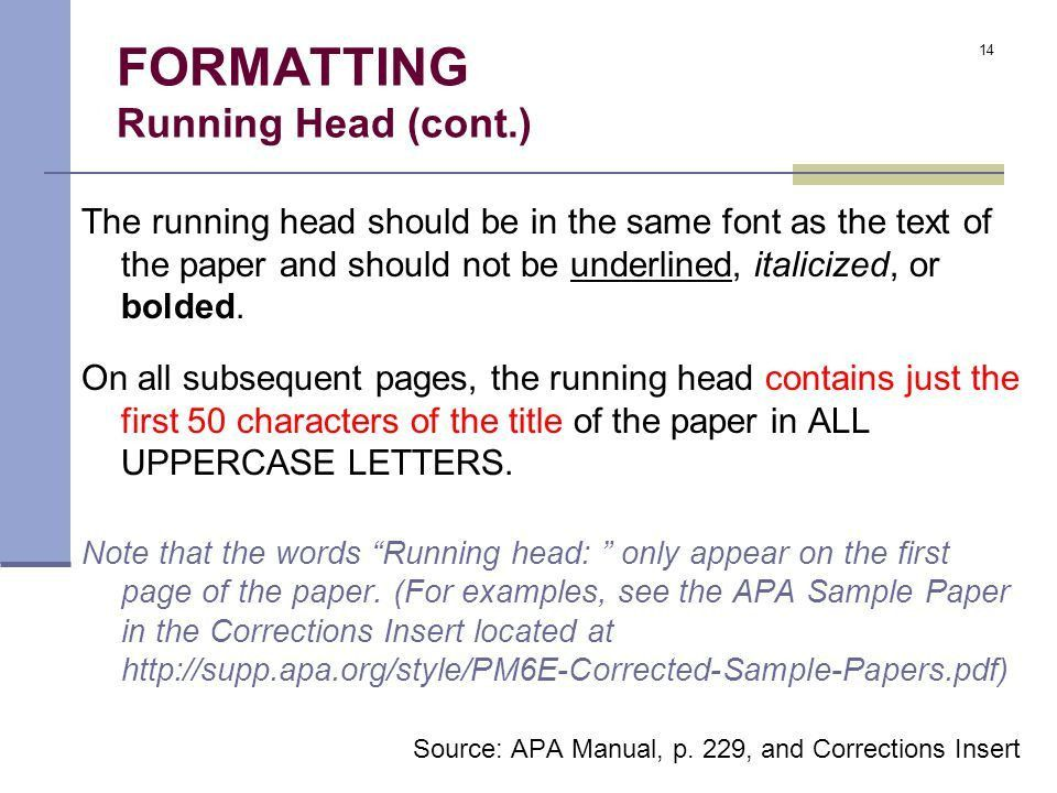 The Basics of APA Format - ppt video online download