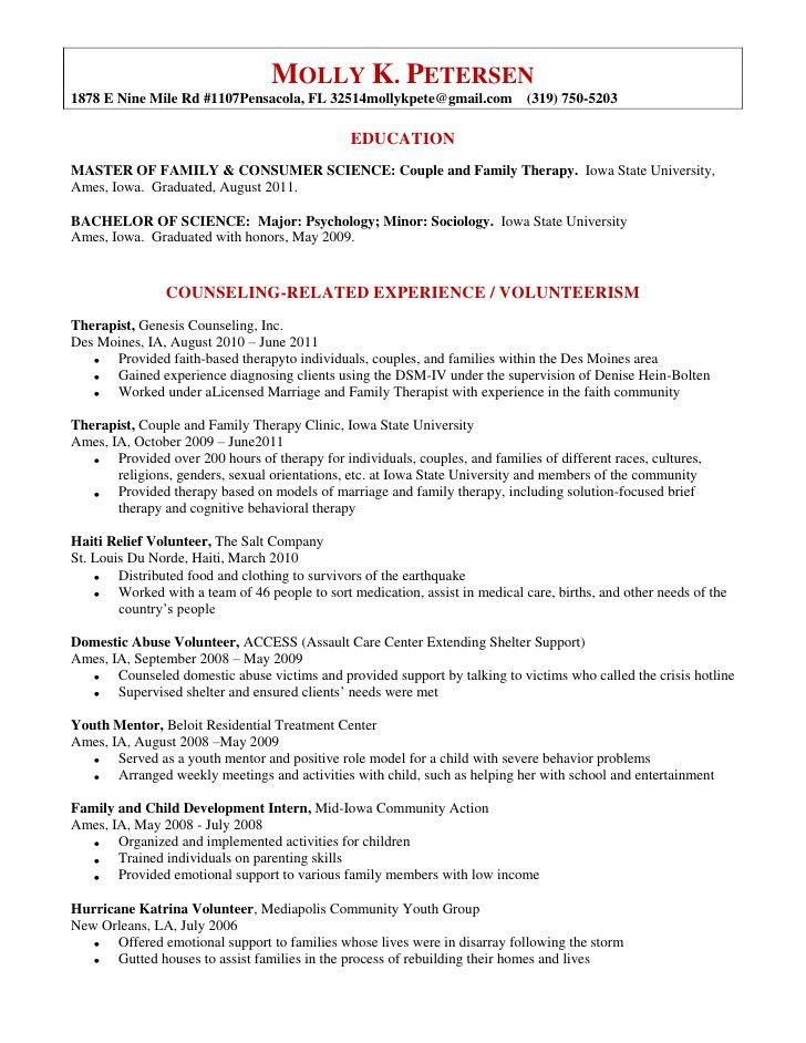 Molly Petersen\'s Resume