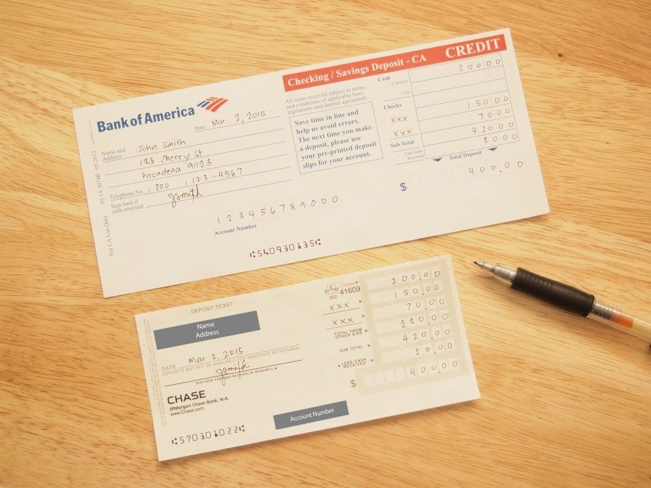 Checks Template Blank Deposit Slip Template Free Check Deposit ...