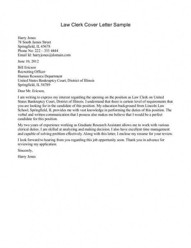 Cover Letter Writing Law Cover Letter Judicial Externship Cover ...