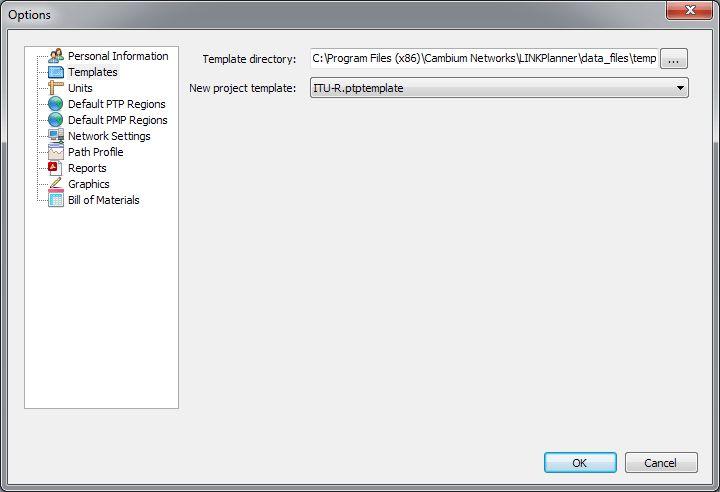 Options (Preferences) — Cambium LINKPlanner Online Help (4.6.3)