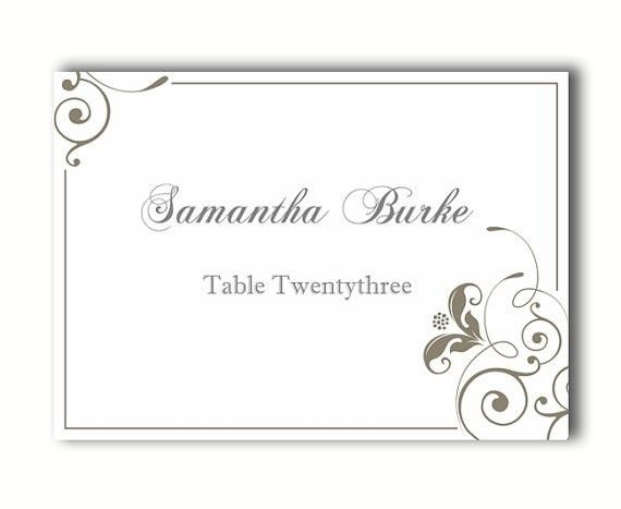 Printable Place Cards Template | onlinecashsource
