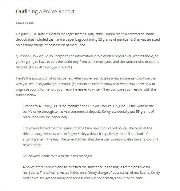 Report Outline Template – 10+ Free Sample, Example, Format ...
