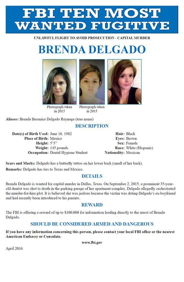 "Brenda Delgado Added To FBI's ""Ten Most Wanted Fugitives"" List ..."