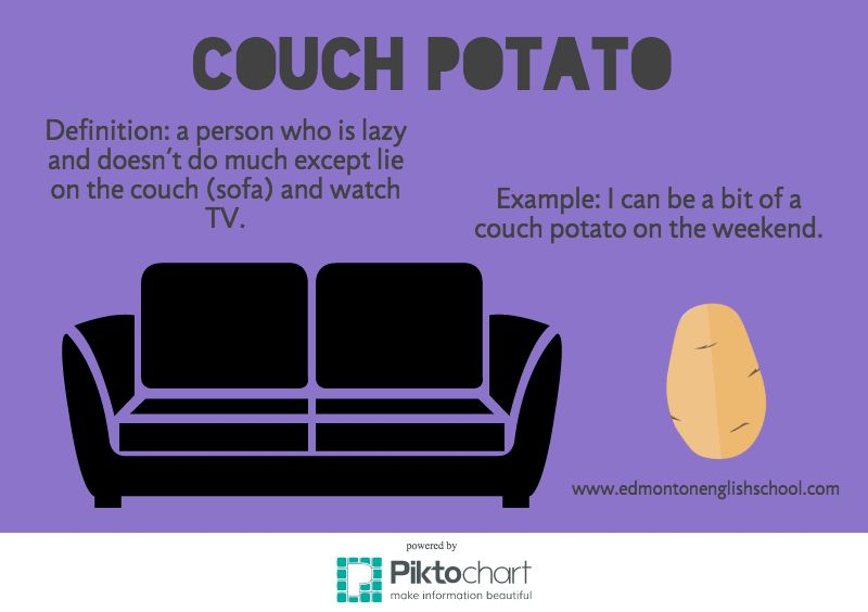 English Idioms & Expressions - COUCH POTATO | Learning English ...
