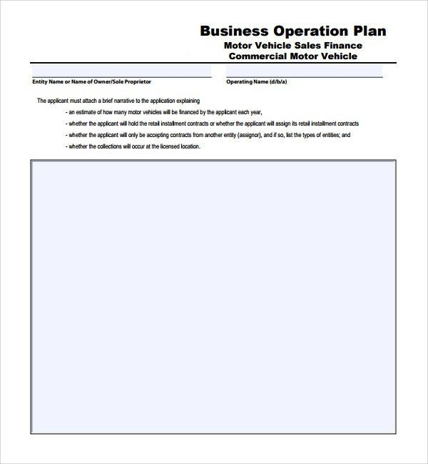Sample Operational Plan Template - 9+ Free Documents in PDF, Word