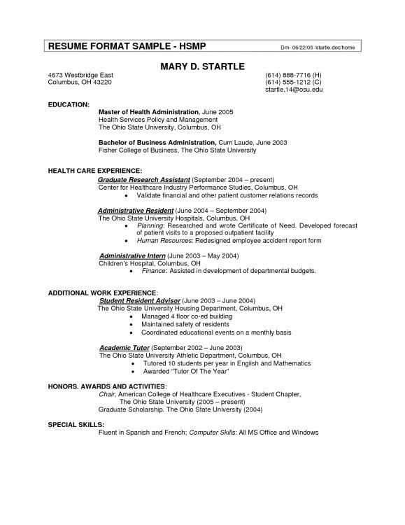 standard resume template standard resume format in canada resume - Canadian Sample Resume