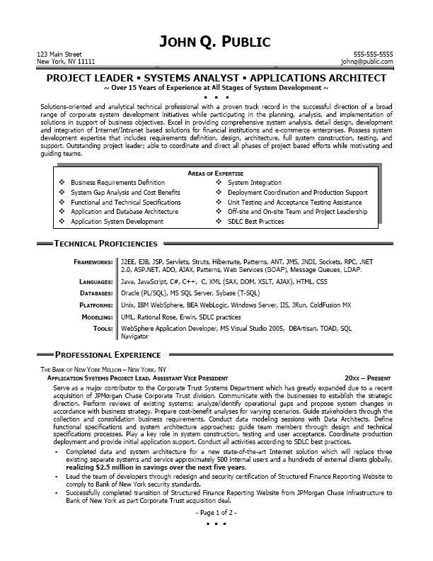 Business Systems Analyst Resume | ilivearticles.info