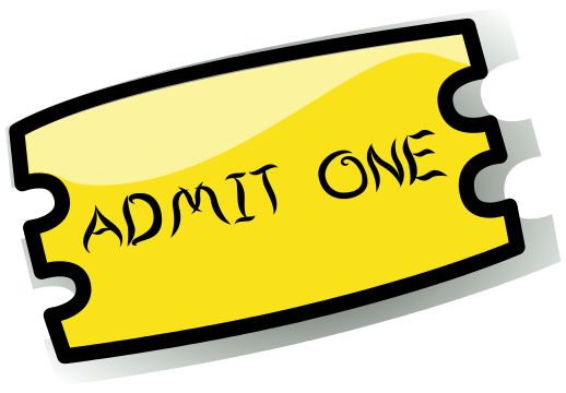 Admit One Ticket Clipart - The Cliparts Databases