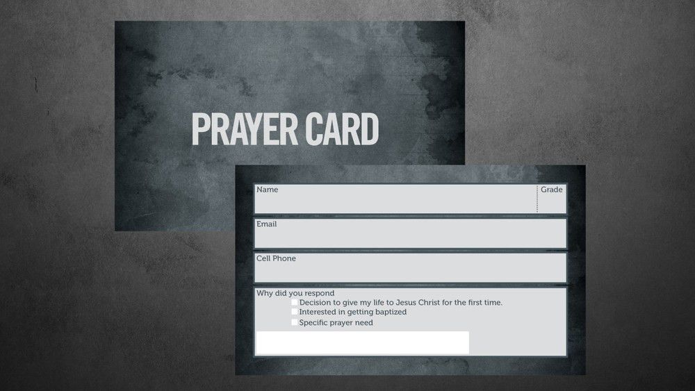 Small Prayer Card Template — Vintage Church Resources