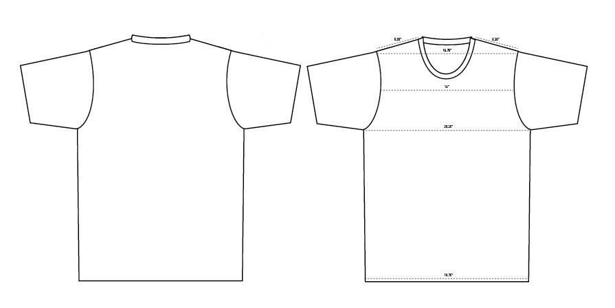 Blank T Shirt Templates 6 Must-Haves - Blankstyle.com Blog