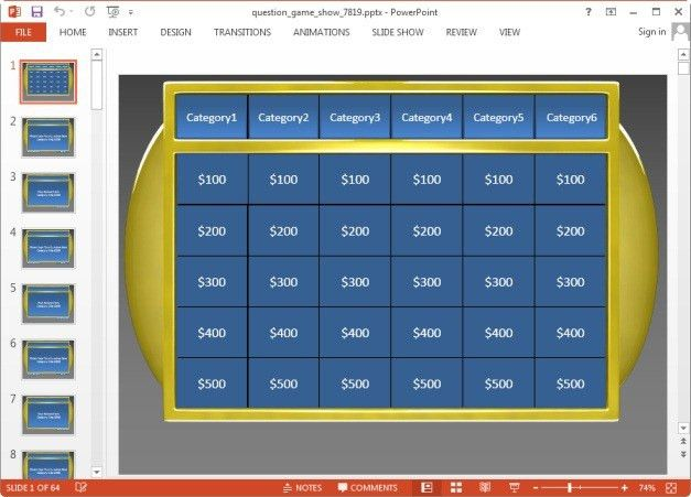 powerpoint 2003 jeopardy template powerpoint for teachers ...