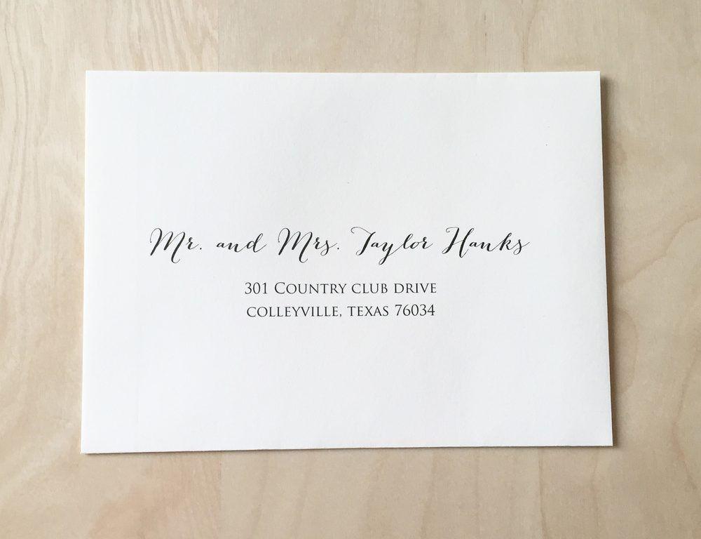 Wedding Invite Address Labels #6853