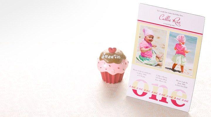 Personalized 1st Birthday Invitations | Photo, Baby Boy & Girl Designs