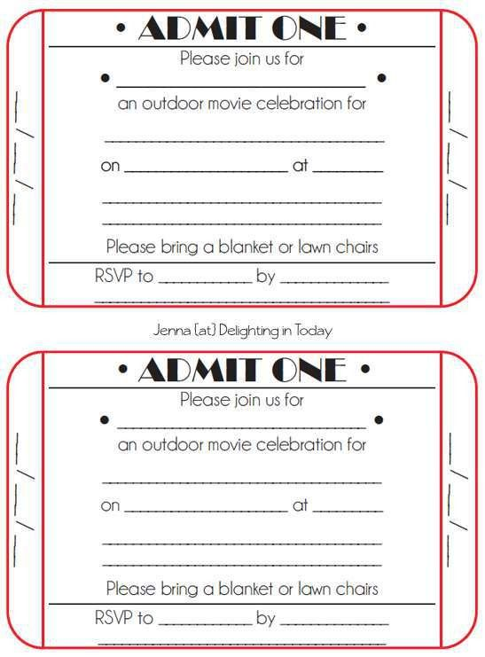 Wonderful Free Movie Ticket Party Invitation Template According ...
