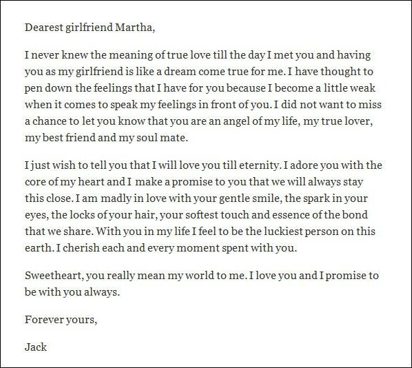 Apology Love Letter Example. The Love Letter To Girlfriend Long ...