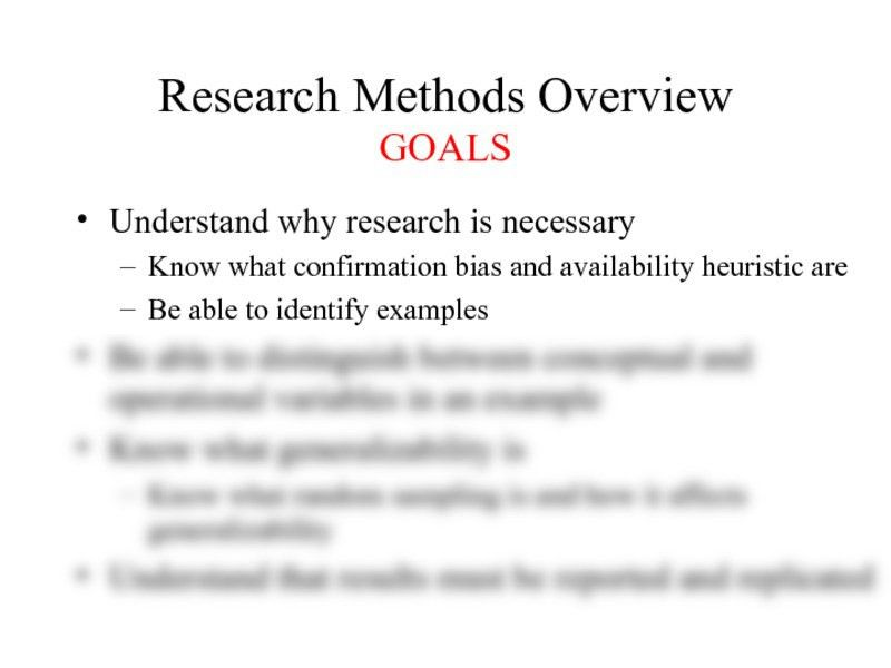 02 - goals - Research Methods.ppt - Psychology 100 with Bitler at ...