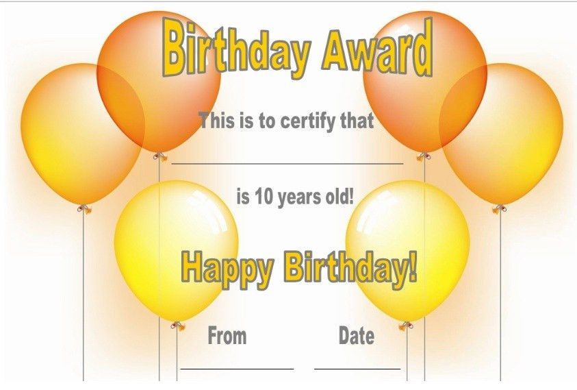 13 Free Sample Birthday Gift Certificate Templates – Printable Samples