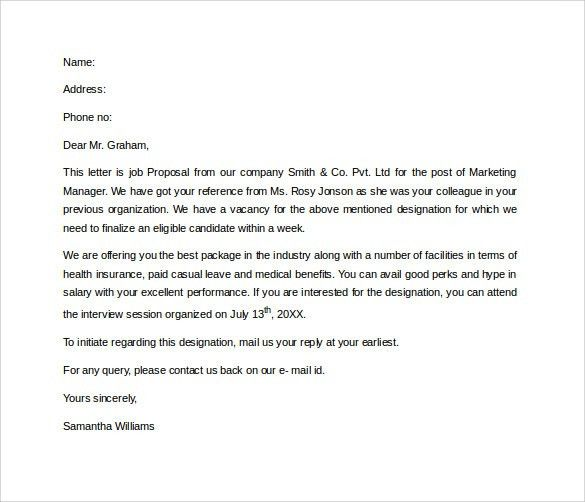 Sample Proposal Letter - 13+ Free Documents in PDF, Word