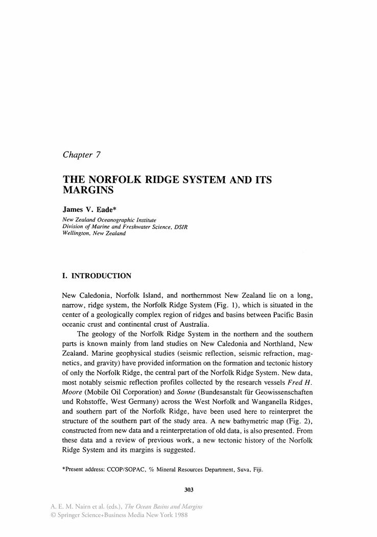 The Norfolk Ridge System and Its Margins - Springer