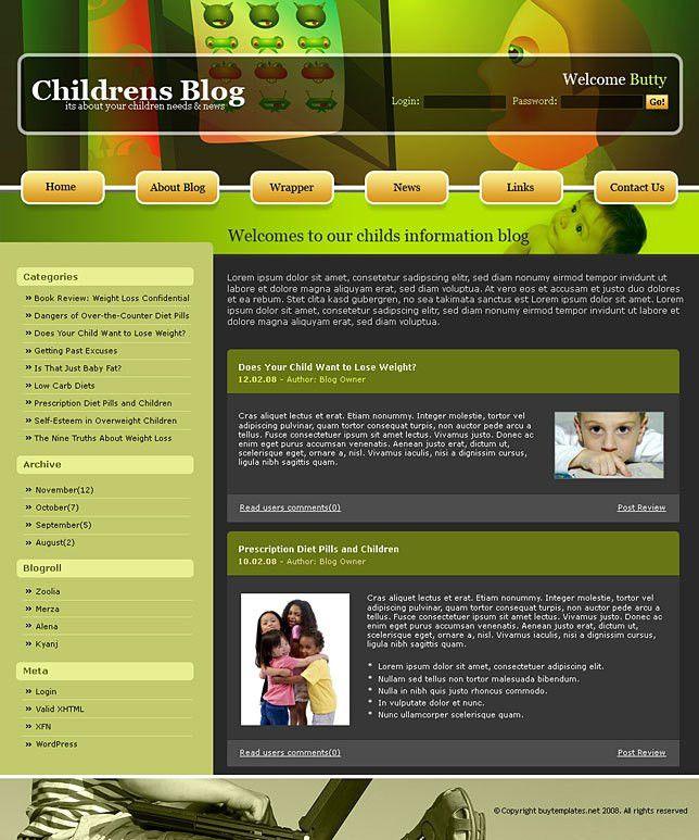 Children html blog templates