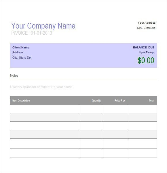 Auto Repair Invoice Template - Printable Word, Excel Invoice ...