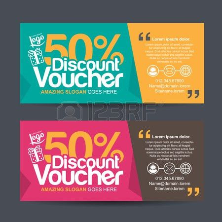 Gift Voucher Template With Colorful Pattern,cute Gift Voucher ...