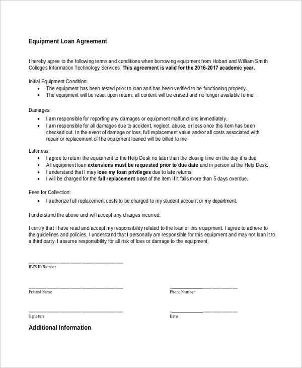9+ Loan Contract Templates - Free Sample, Example Format Download ...