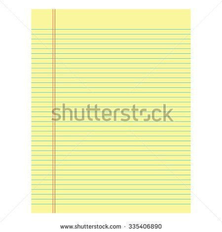Notebook Paper Sheet Isolate On White Stock Vector 390420892 ...
