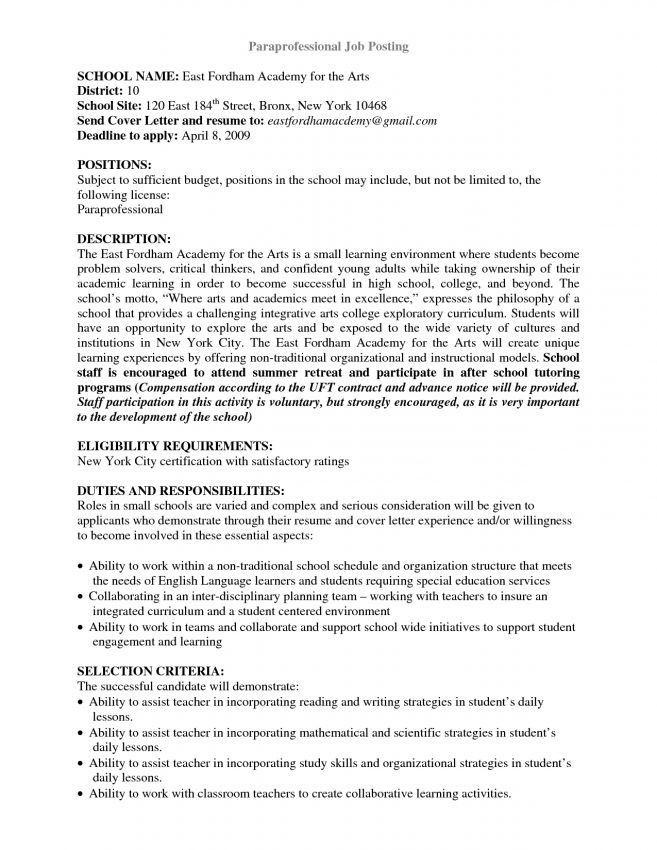 5 Paraprofessional Cover Letter Sample Cover Letter ...