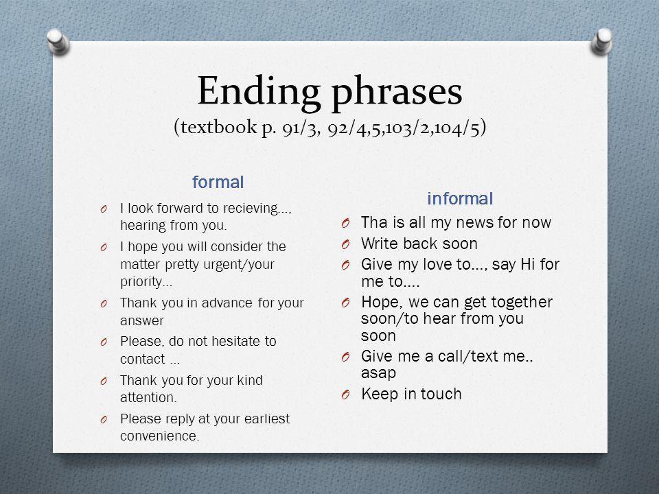 Writing a letter Formal or informal. - ppt video online download