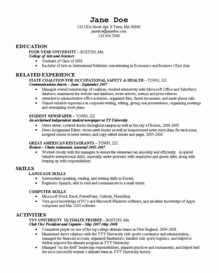 47 best RESUME images on Pinterest | Resume templates, Career and ...
