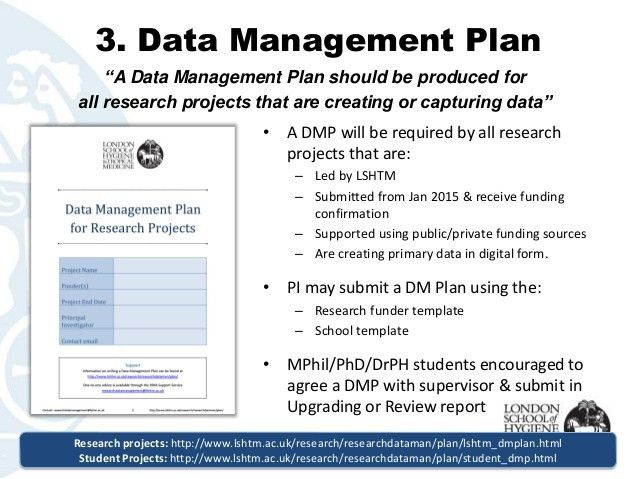 LSHTM Research Data Management Policy: An Overview