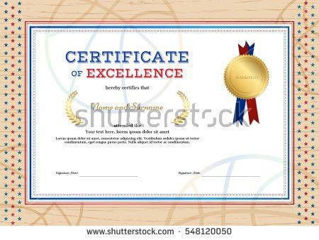 Certificate Excellence Template Sport Theme Basketball Stock ...