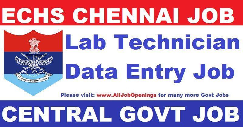 Lab Technician Jobs in ECHS Hospital Chennai Archives - All Job ...