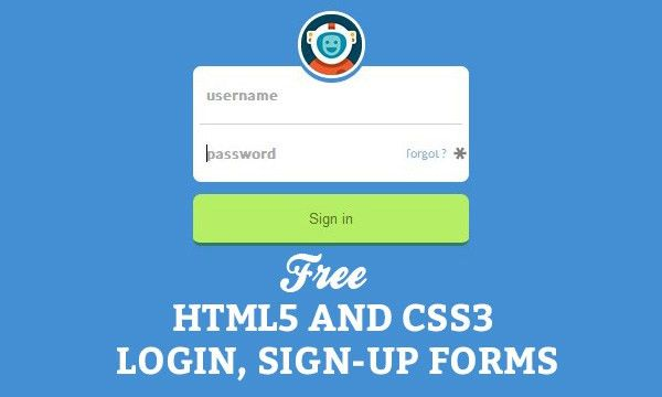 65 Free HTML5 And CSS3 Login, Sign-Up Forms For Your Website ...