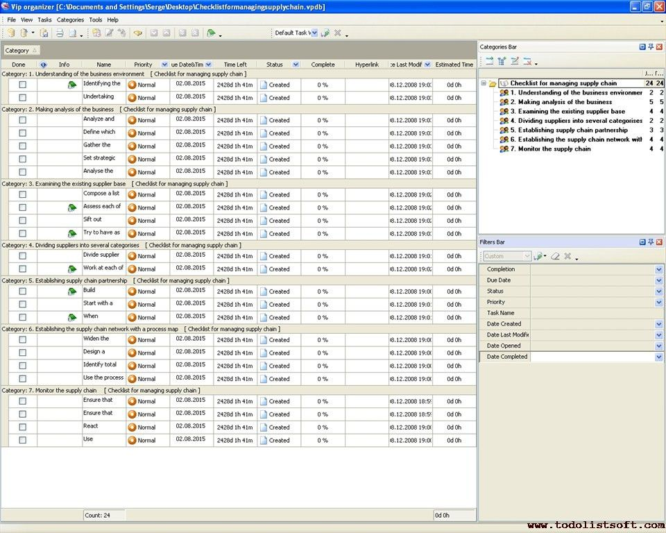 Company activity checklists- To Do Lists for company activity - To ...
